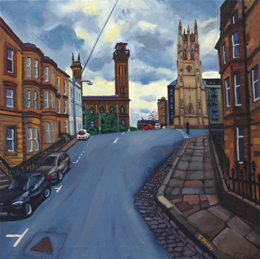 Lynedoch Place - Oil on canvas, 80 x 80cm  GOVANHILL BATHS COMMUNITY TRUST EXHIBITION  Govanhill Baths, Glasgow  27 - 2 December 2017.jpg