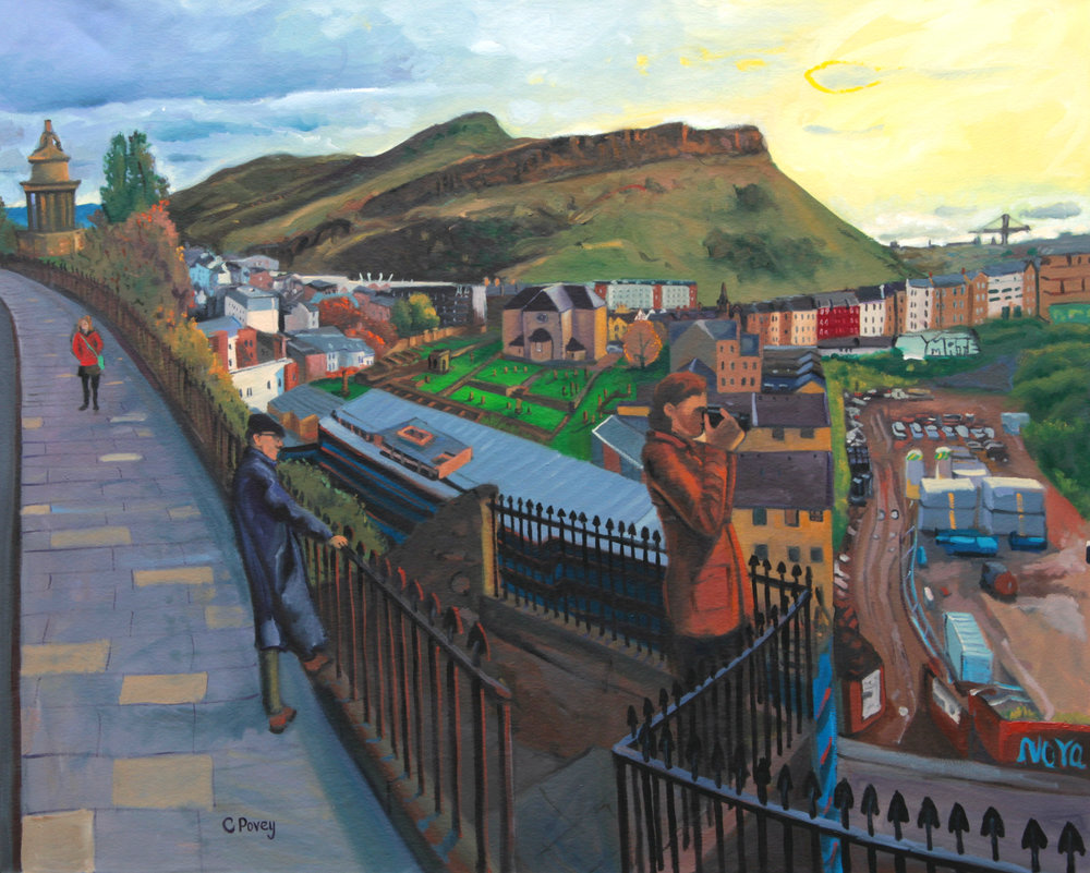 Arthur's Seat - Oil on canvas, 150 x 120cm COLIN POVEY - PAINTINGS OF EDINBURGH  St Andrew's and St George West Church, Edinburgh  12 -13 January 2018.jpg