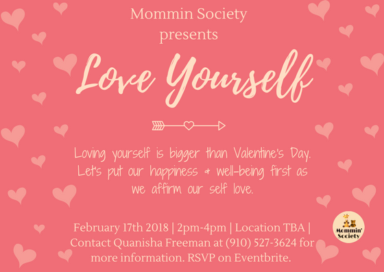Love Yourself is an event that is based off of affirming our self-love. As self-love is often lacked, shattered, or minimal, Mommin Society has set out to create a space where self-love is uplifted and welcomed. As we all face difficulties within motherhood and womanhood, our self-love should not suffer. Let's come together to reflect on our self-love and hopefully leave with a feeling of purity, joy, and excitement for ourselves and our lives.