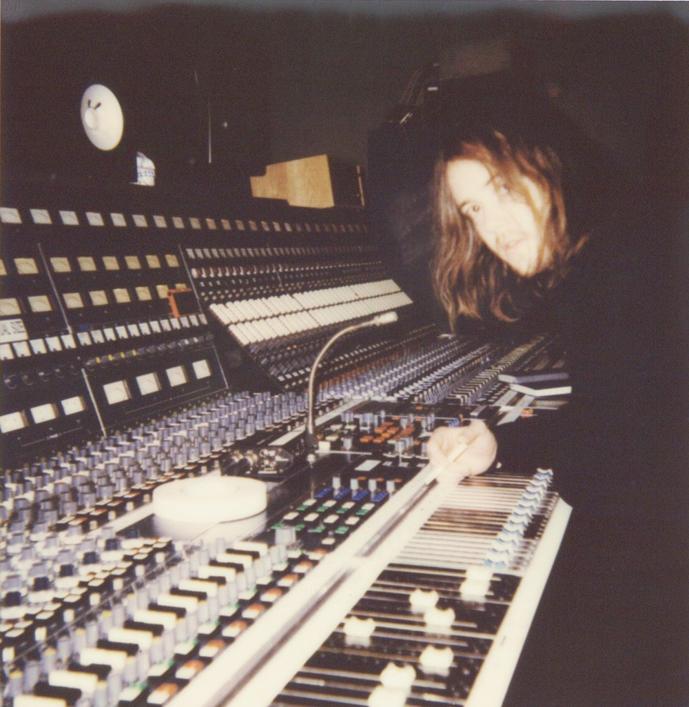Riley and the 72 Channel EMI Neve.  Photo: Kalina Pulit