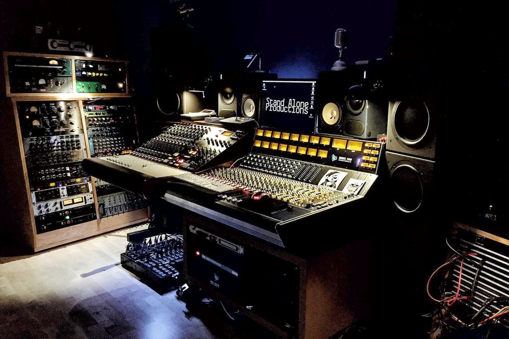Gareth's amazing studio, Stand Alone Production.