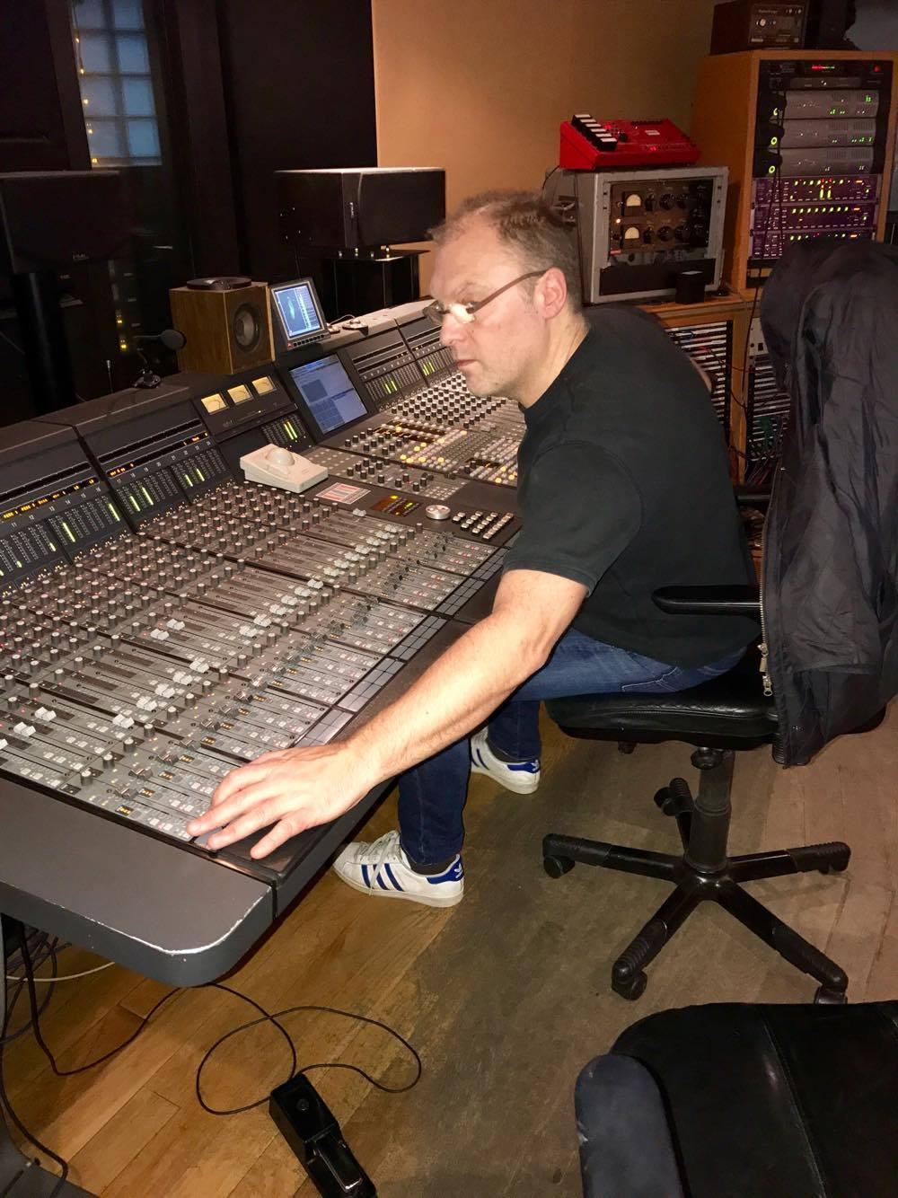 Jon working on his Euphonix CS3000
