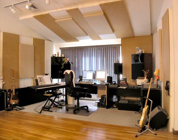 Ethan's home studio.