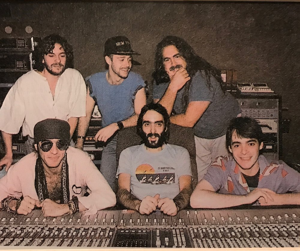 From Top left, Unknown, Keith LeBlanc, Arthur Baker, Little Steven Van Zandt, CLA, TLA (Unique Recording circa 1985)