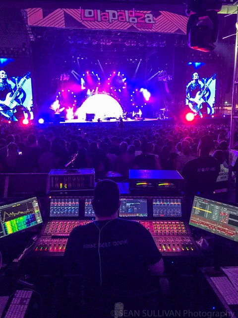 Mixing FOH for Red Hot Chili Peppers, Lollapalooza Brazil, 2018.