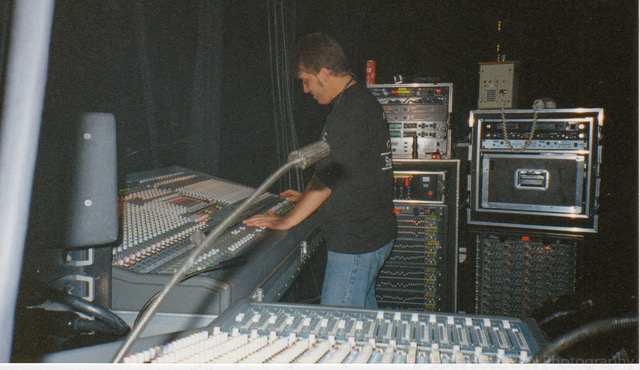 Mixing Monitors for Boyz II Men, 1995.