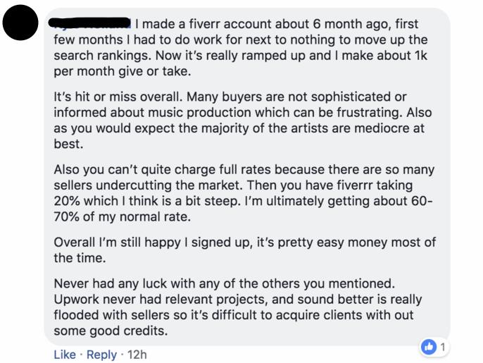 Comment on Fiverr