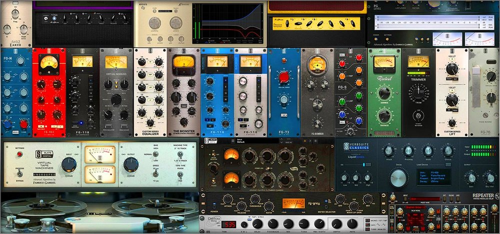 Many of the various plugins Fabrice has worked on with Slate Digital.