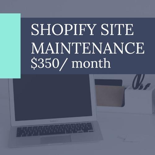 Shopify site maintenance