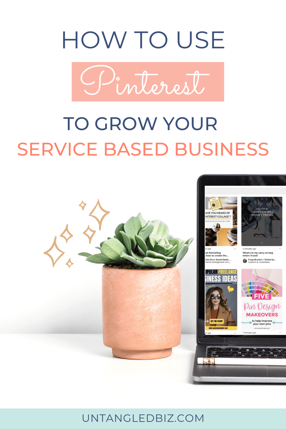 How to grow your service based business with Pinterest-Pinterest image