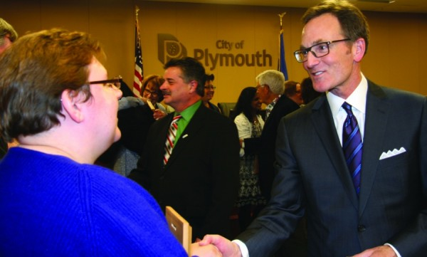 16 years of collaborative work as a member of the Plymouth City Council - Tim Bildsoe served four terms on the Plymouth City Council, spearheading economic development initiatives and attracting a diverse group of local and national businesses, driving Plymouth to become the 4th largest economy in the state, while maintaining the state's lowest tax rate of cities with 10,000 or more residents. A prudent steward of the city's tax revenue earned Plymouth the highest credit rating while investing in needed infrastructure improvements making Plymouth a great place to live, work and play. As a council member, Tim worked tirelessly on quality of life initiatives to improve the lives of his constituents. He brought about positive change in the areas of neighborhood safety, exceptional city services, well-maintained infrastructure and open space preservation.