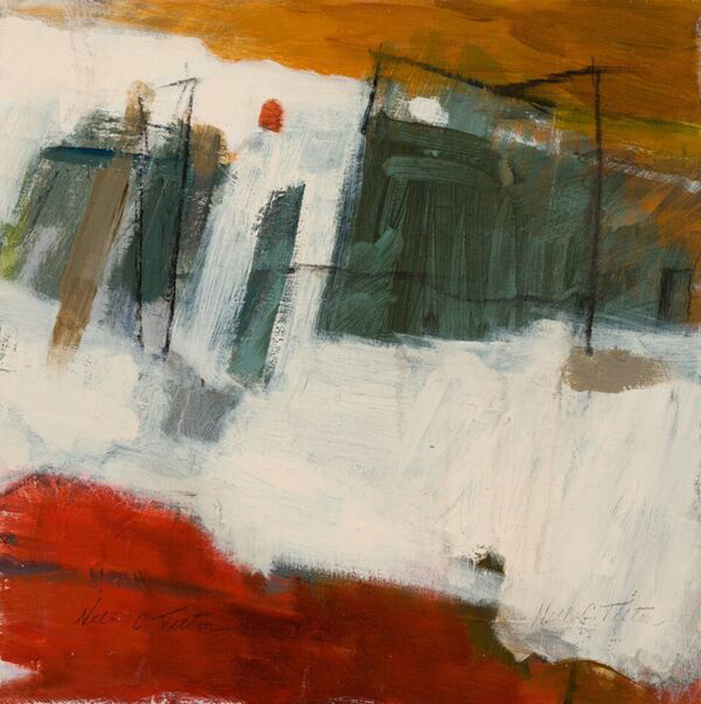 """EXPANSION 12"""" x 12"""" Acrylic/Mixed Media on Board"""