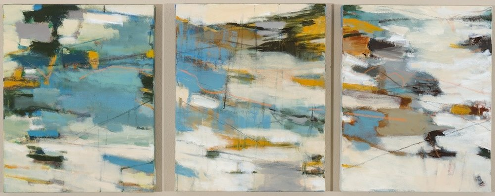 "Sold RELEASE (triptych) 20"" x 16"" Acrylic/Mixed Media on Canvas"