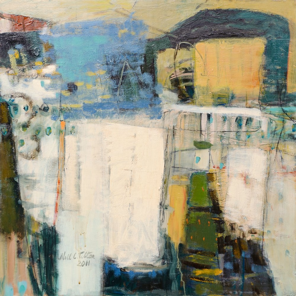 "Sold  STRUCTURED ELEMENTS 24"" x 24"" Acrylic/Mixed Media on Board"