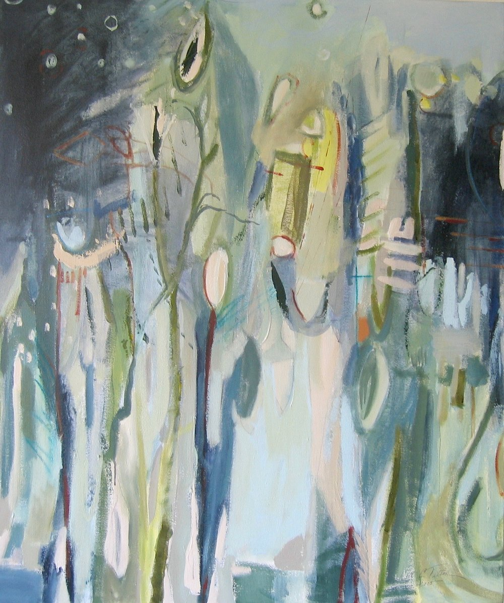 "Sold  SEA LIFE II  48"" x 40"" Acrylic/Mixed Media on Canvas"