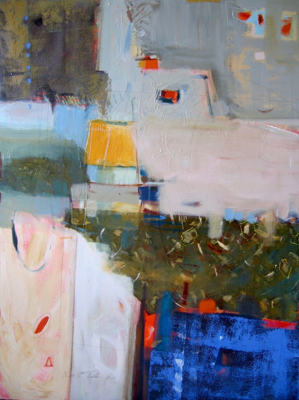 "Sold  IN THE BALANCE II  48"" x 36"" Acrylic/Mixed Media on Canvas"