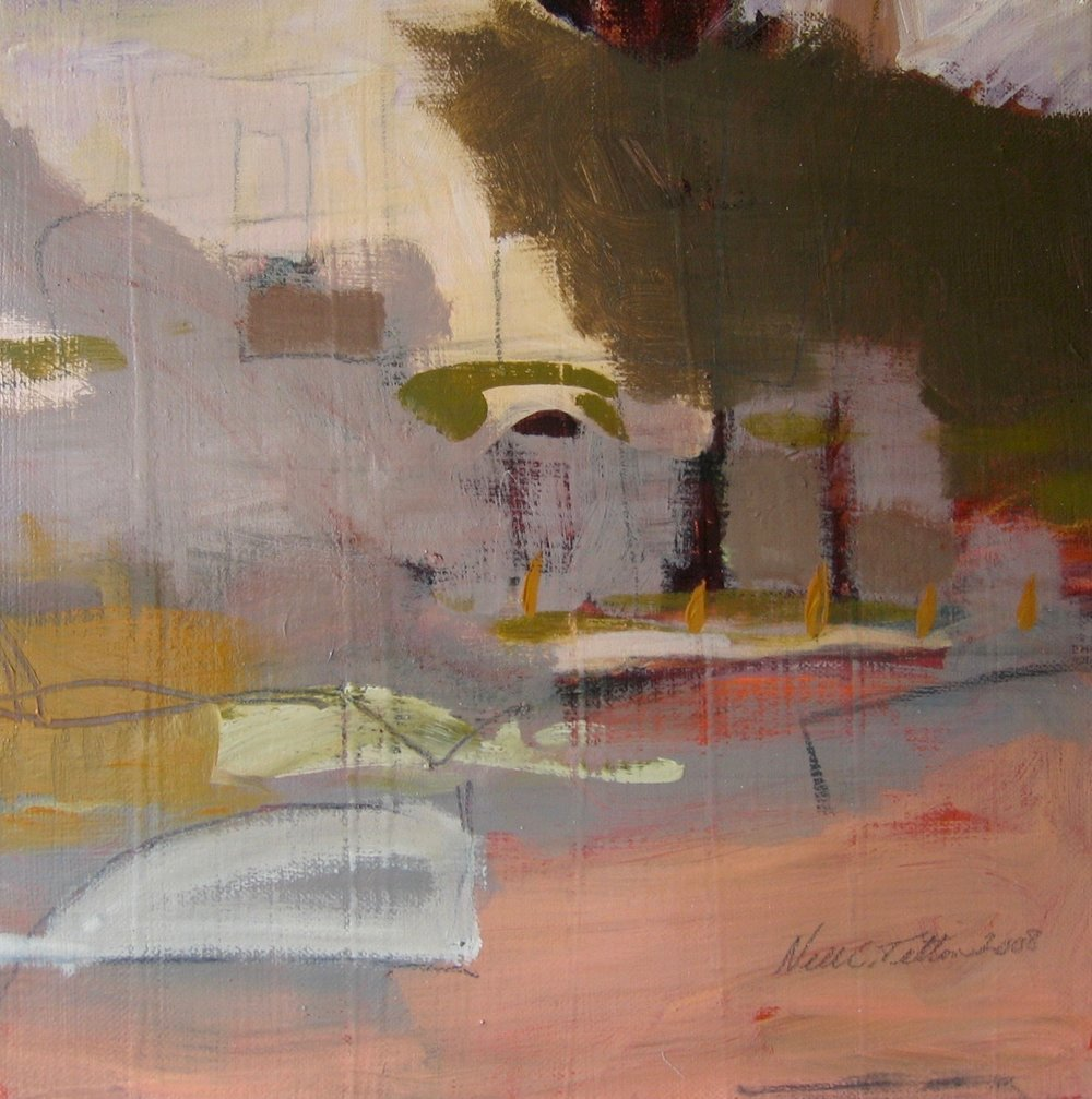 "Sold  LANDSCAPE XVI 12"" x 12"" Acrylic/Mixed Media on Canvas"