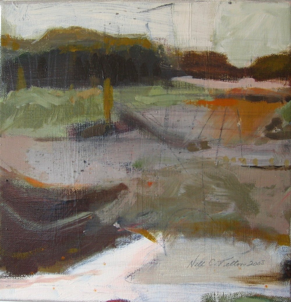 "Sold  LANDSCAPE XVII 12"" x 12"" Acrylic/Mixed Media on Canvas"