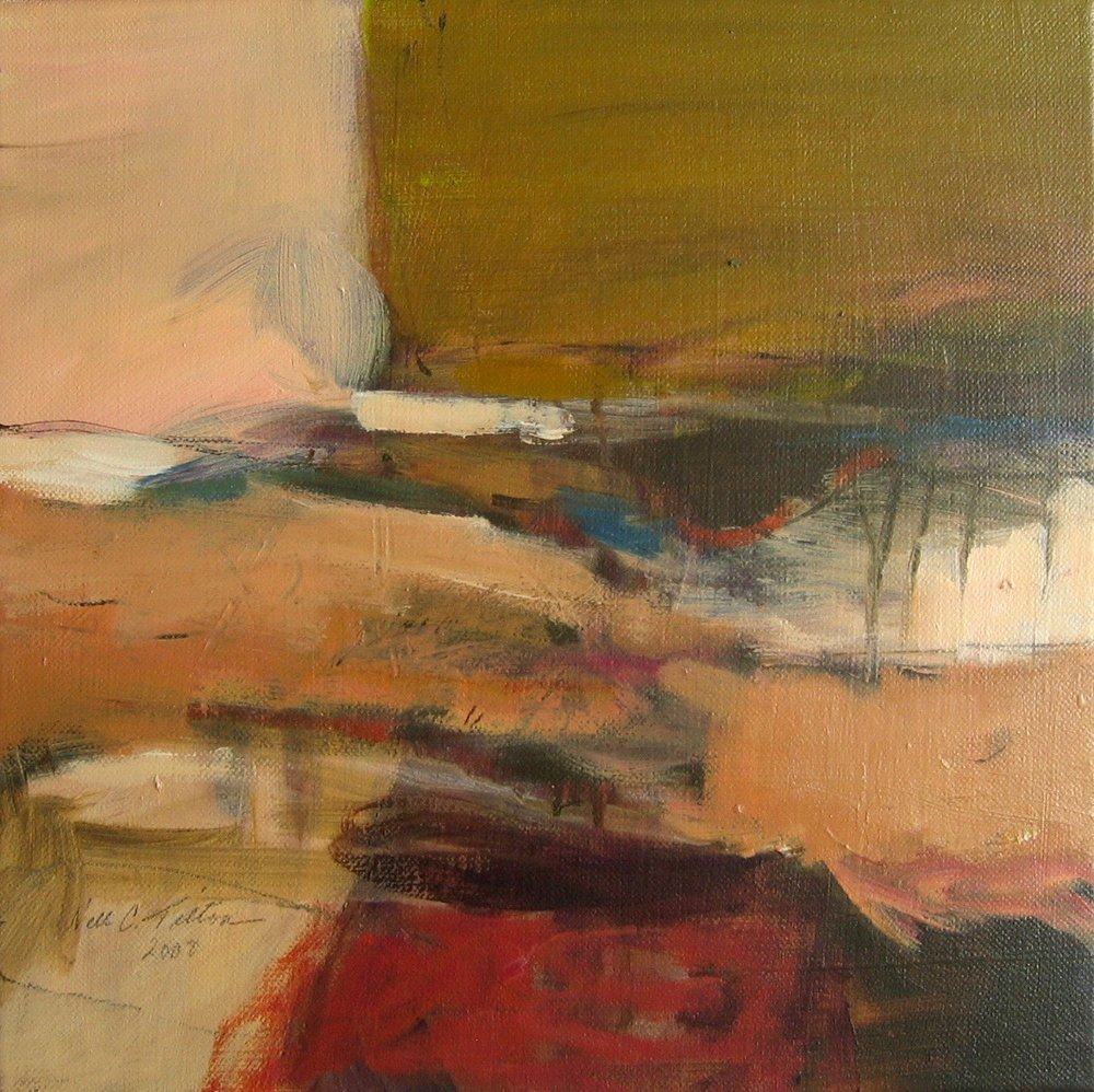 "Sold  LANDSCAPE XVIII 12"" x 12"" Acrylic/Mixed Media on Canvas"
