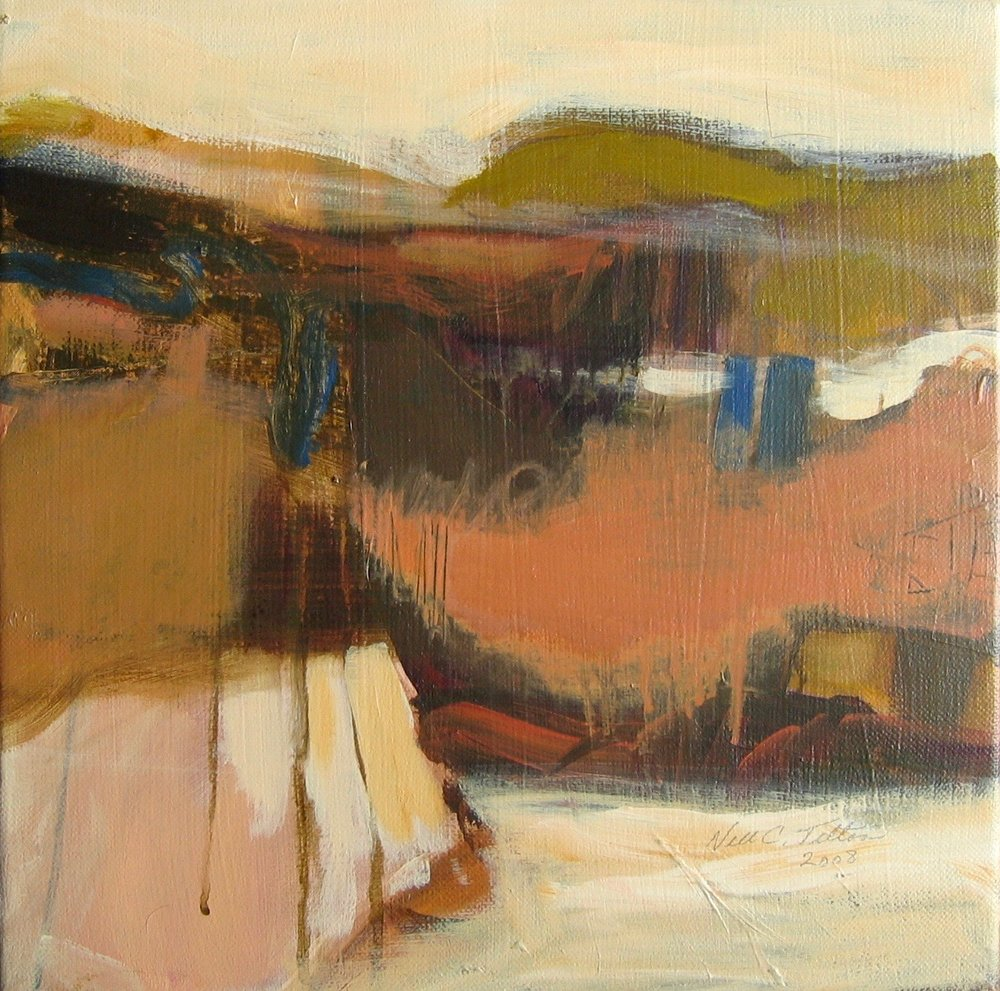 "Sold  LANDSCAPE XIX 12"" x 12"" Acrylic/Mixed Media on Canvas"