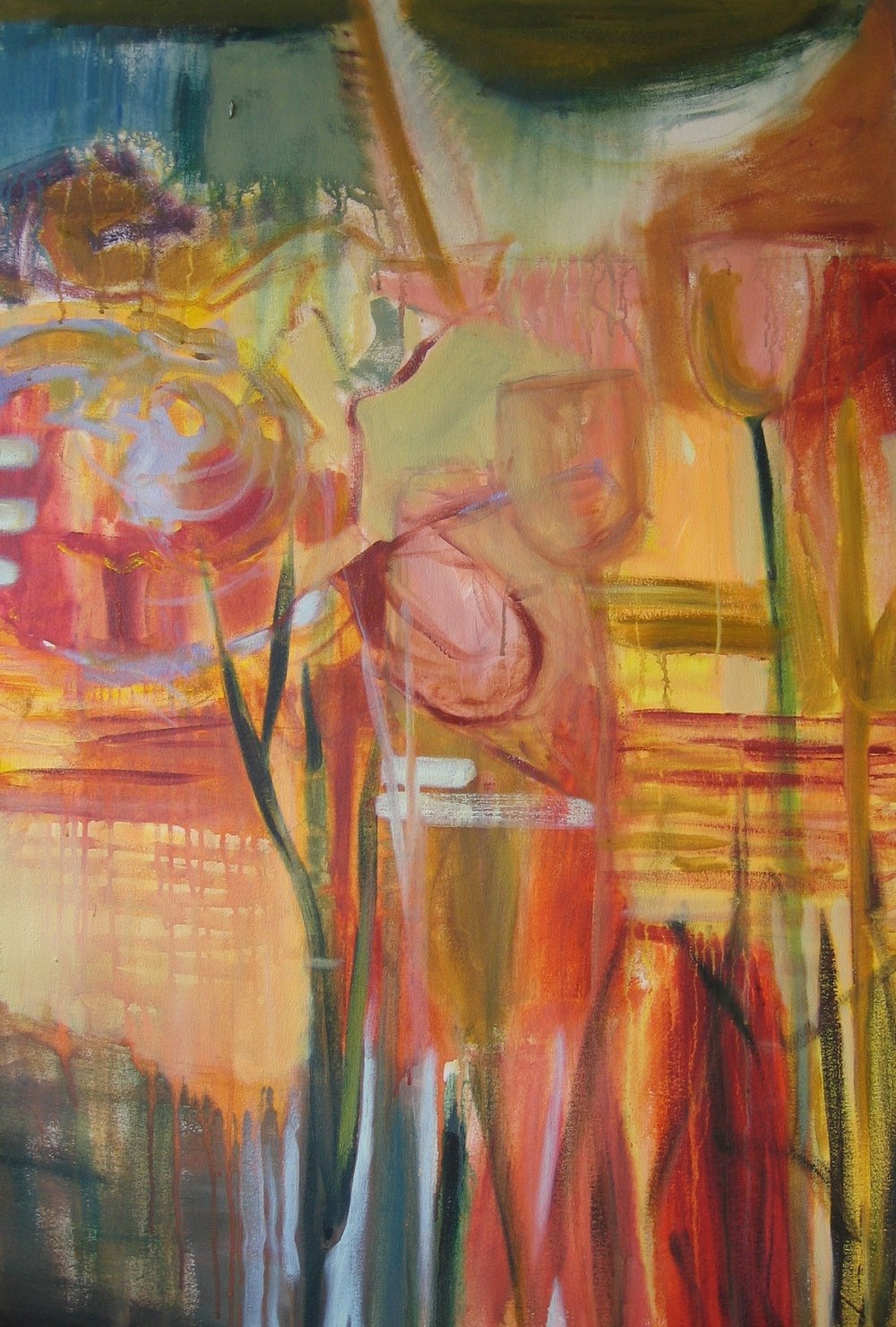 "Sold  SPRING SERIES 4  48"" x 36"" Acrylic/Mixed Media on Canvas"