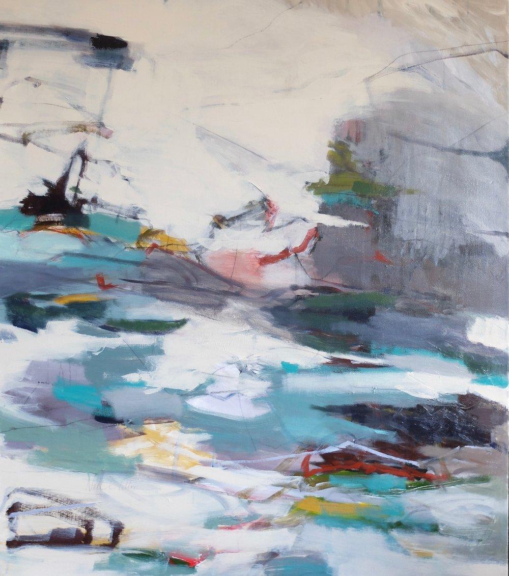WHITE CAPS  48x 42 Acrylic/Mixed Media on Canvas