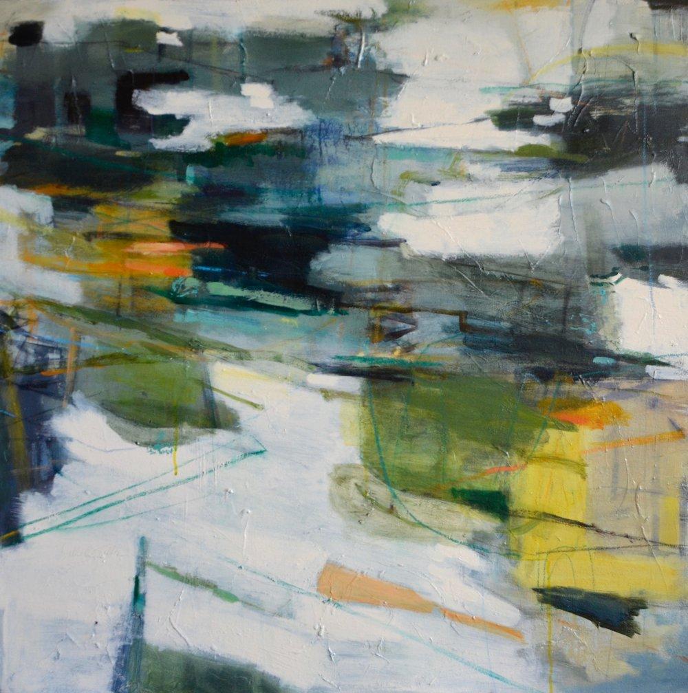 RIPPLES  36 x 36 Acrylic/Mixed Media on Canvas