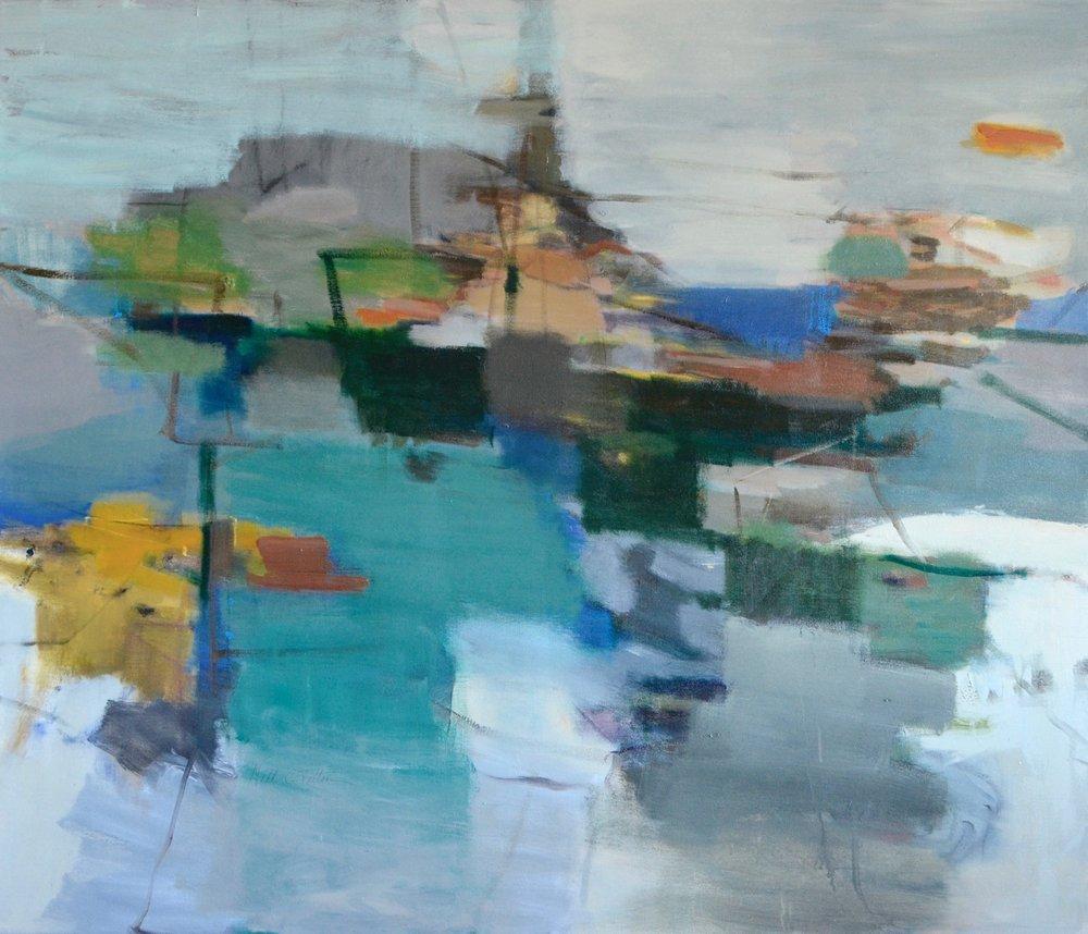COASTAL PLAIN  46 x 54 Acrylic/Mixed Media on Canvas
