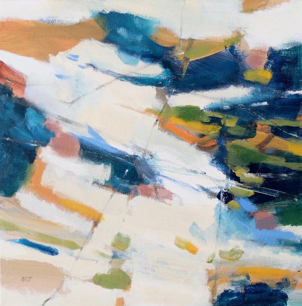 IMPRINTS 1  12 x 12 Framed/Acrylic/Mixed Media on Canvas