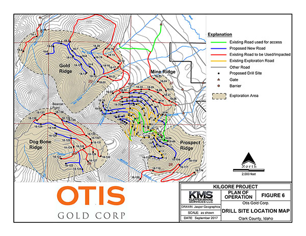 Kilgore 140 drill sites