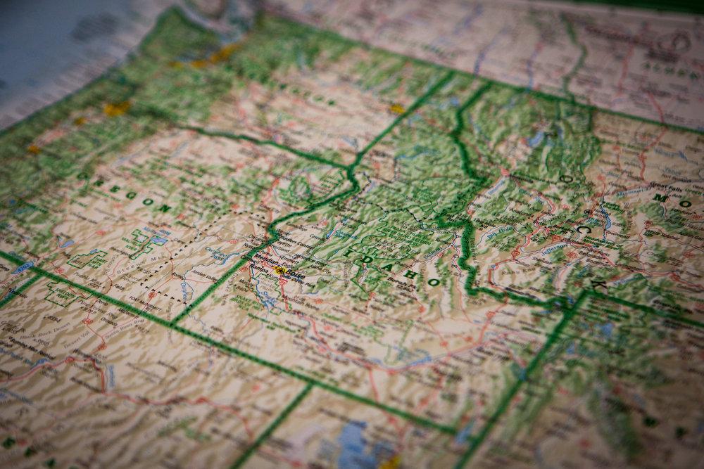 Idaho Map - History Mining in Idaho