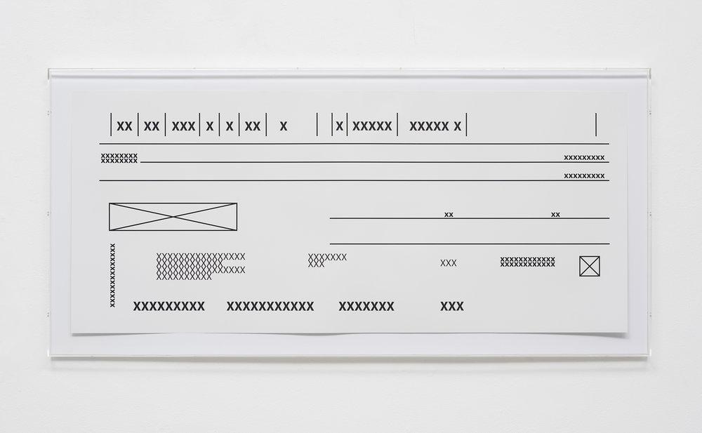 Cheque Gigante - Edição 10 serigrafia em papel de algodão - Foto: Edouard Fraipont