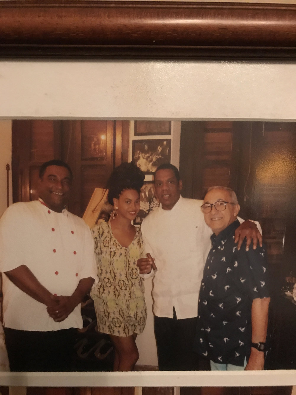 Photo of Beyonce and Jay-Z at restaurant  Paladar San Cristobal