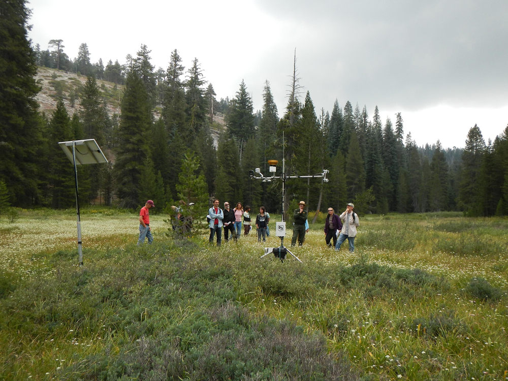Meteorological station measures climate change in giant sequoia habitat.  Credit National Park Service via www.nps.gov