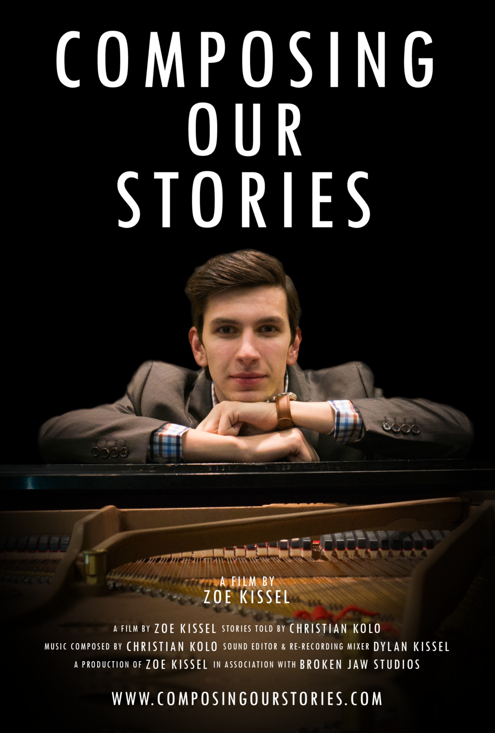 The official Composing Our Stories film poster.