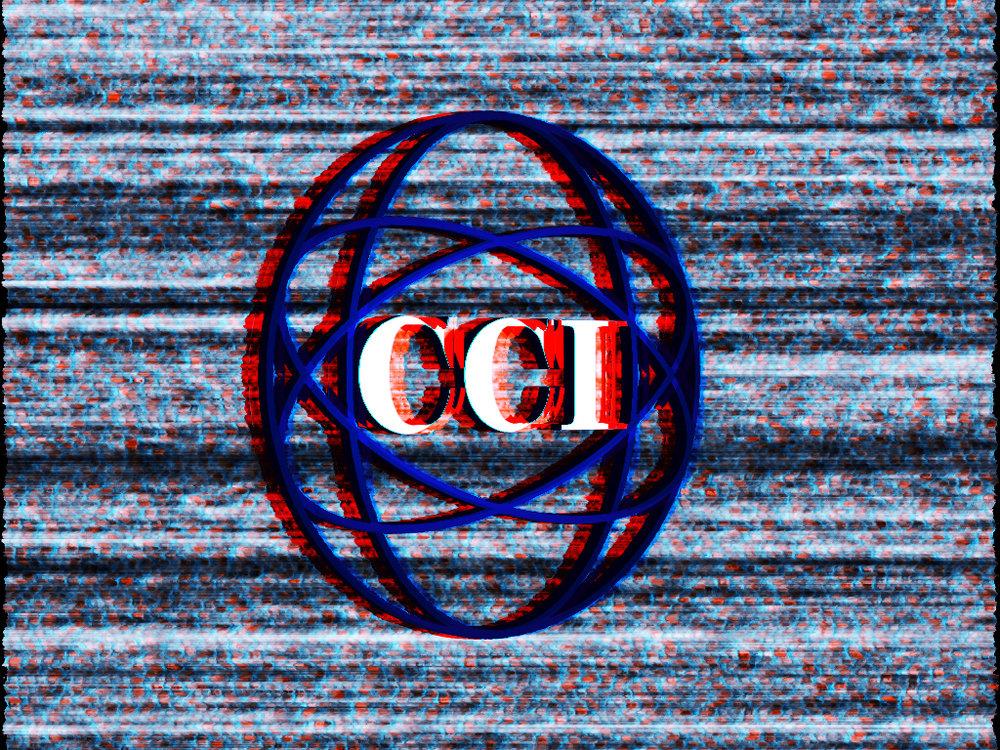 A frame of the glitching CCI Logo.