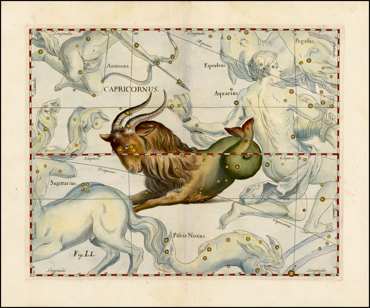Capricornus - Johannes Hevelius, 1690.