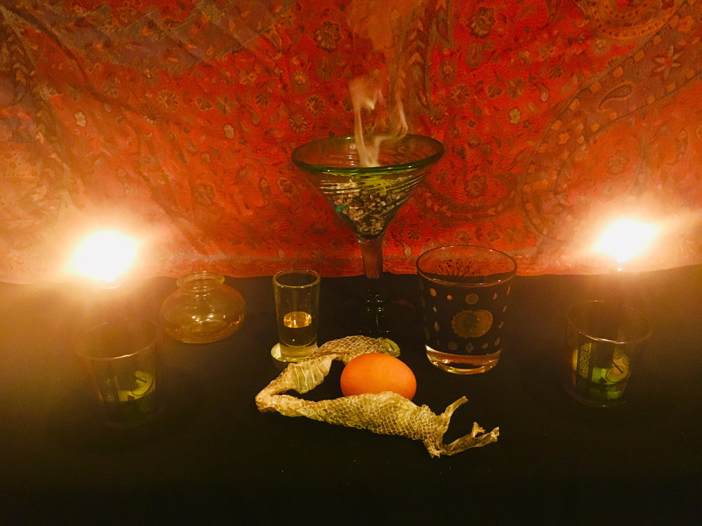 HEKATE ALTAR.  ©2019 The Lilith Zone.com.