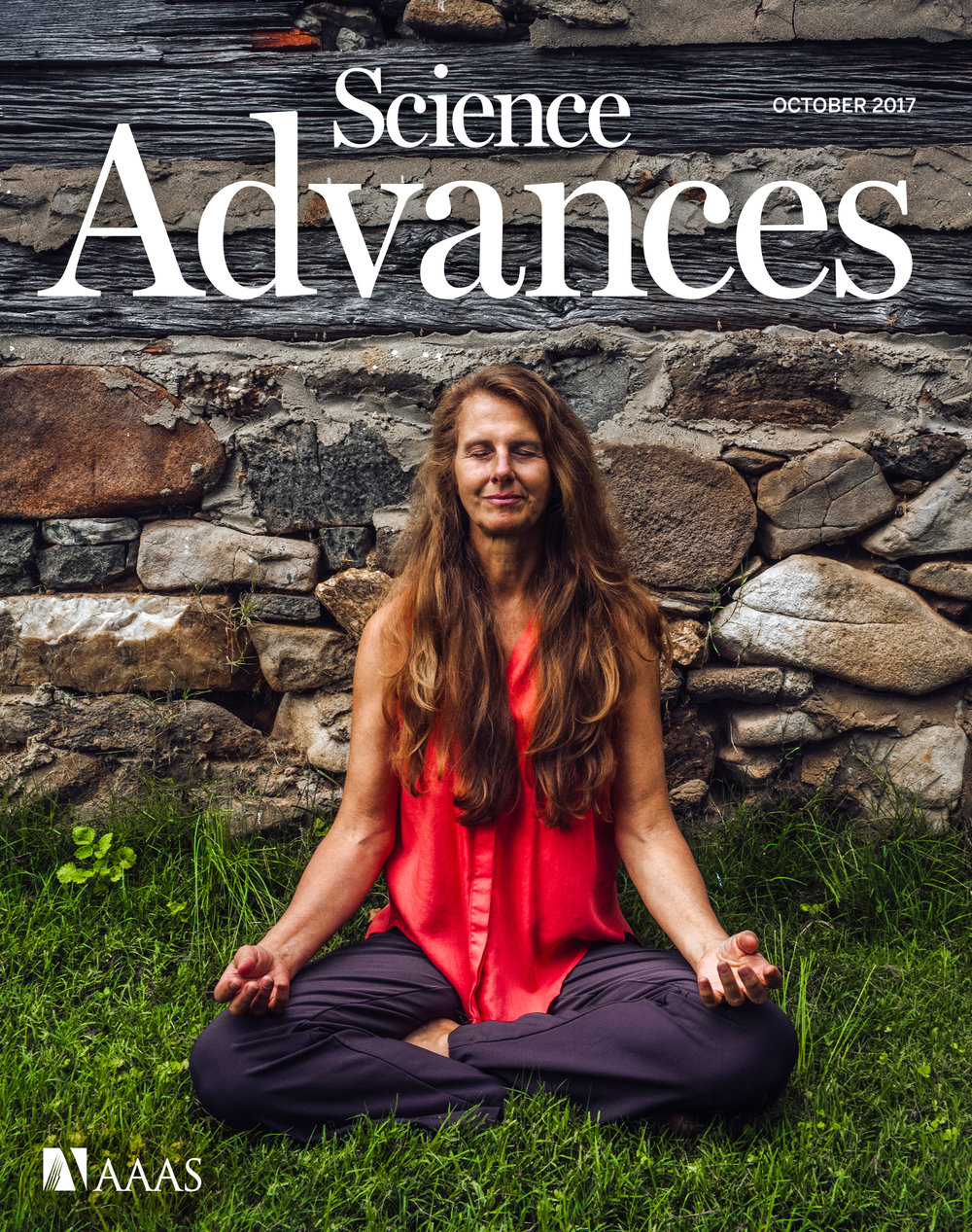 Dr. Deborah Norris on the October, 2017 cover of Science Advances Magazine. (AAAS)