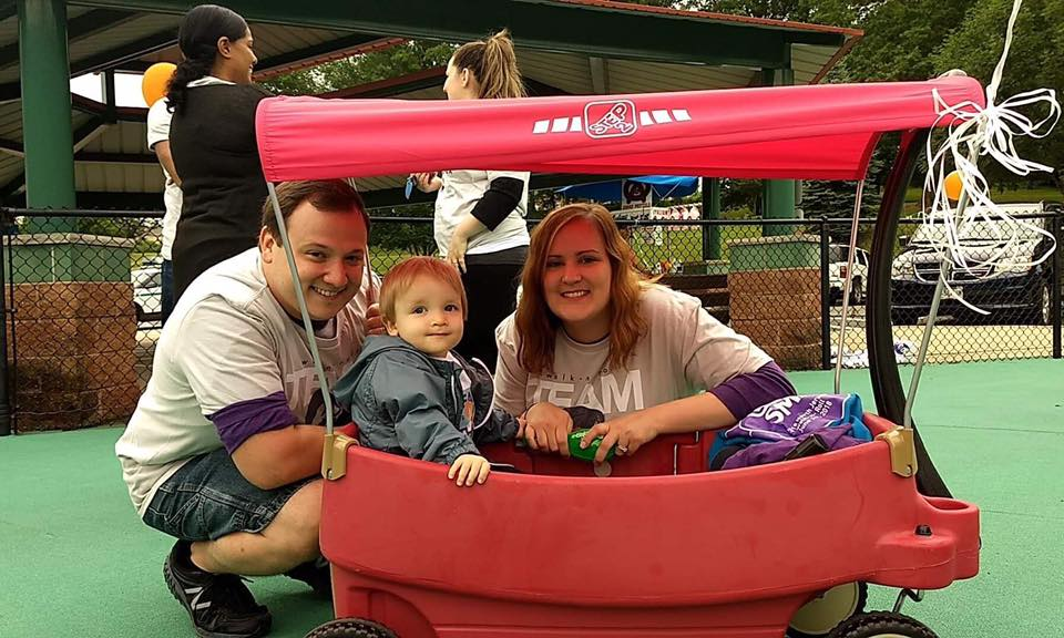 Vinny, Theo, & Amanda at the 2018 Cure SMA Walk 'n Roll