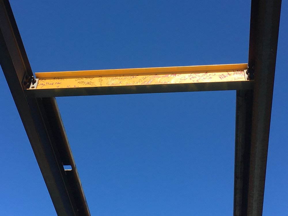MU PA Topping Out Beam_GROTH Design Group.JPG