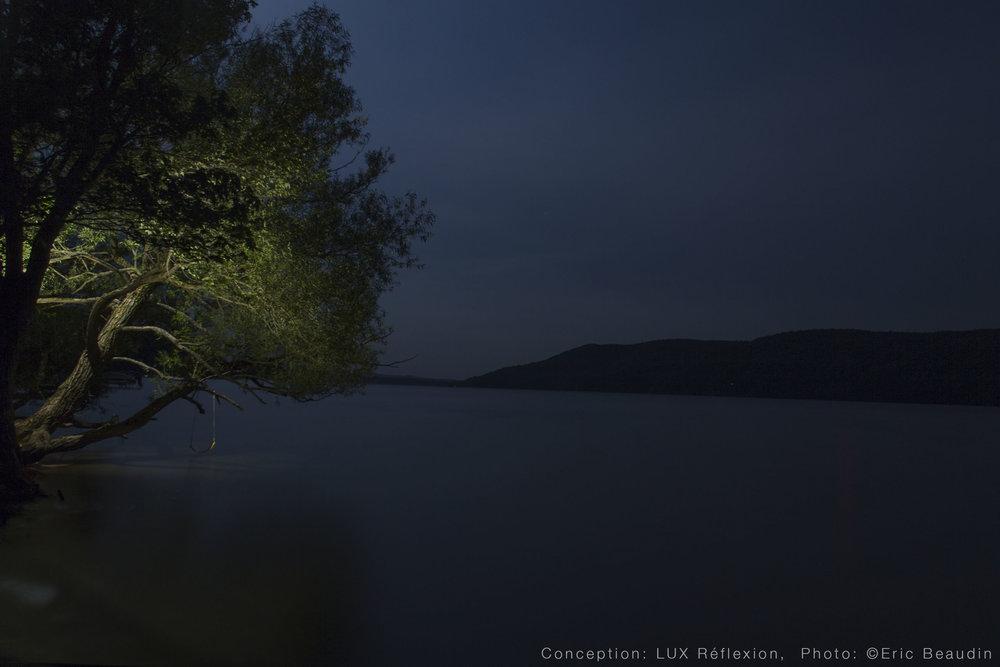 Éclairage paysager, nocturne