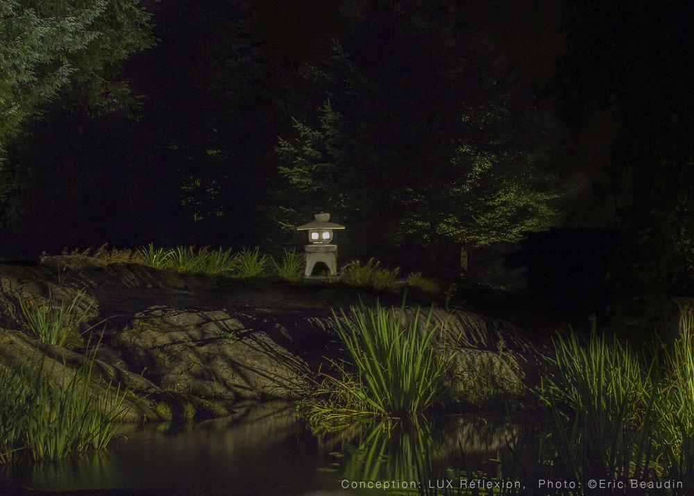 Éclairage d'oeuvres d'art, lanterne japonaise