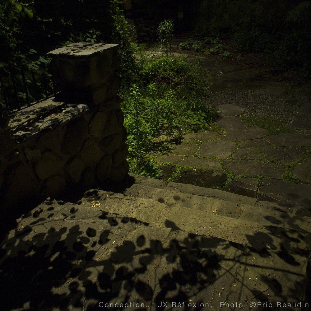 Éclairage paysager, tour de piscine