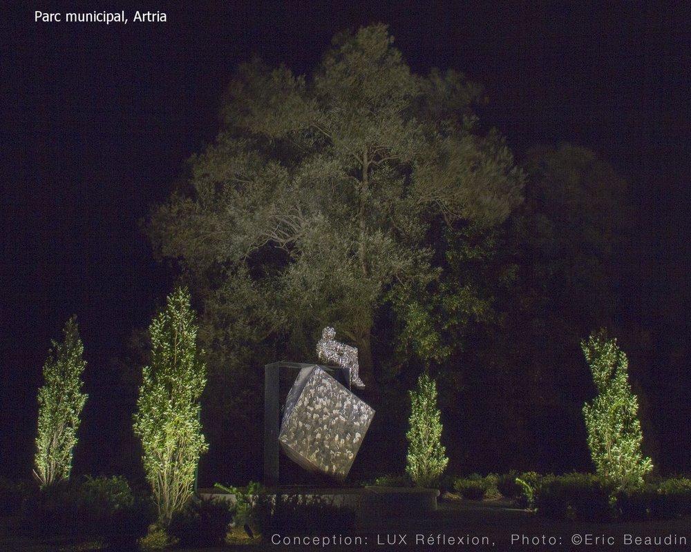 Éclairage d'oeuvres d'art, Parc Artrica