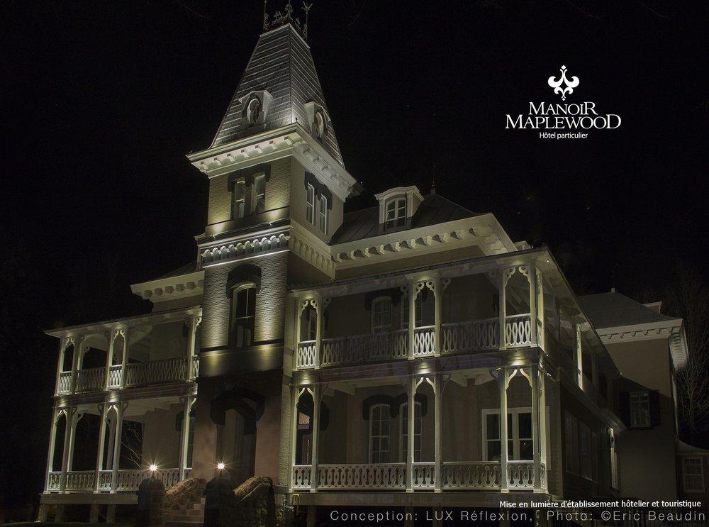 Éclairage architectural, Manoir Maplewood
