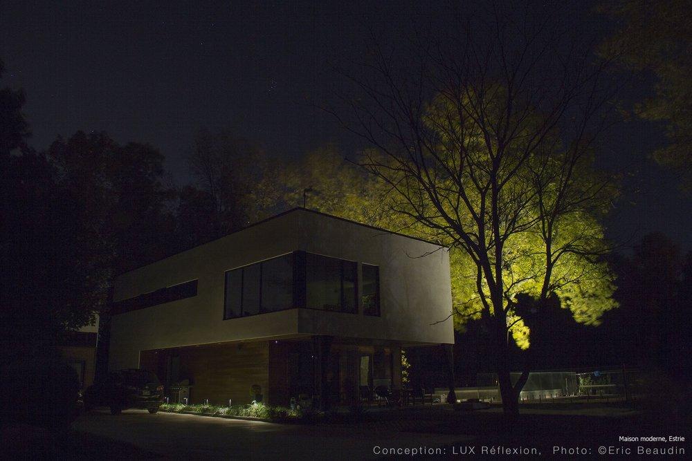 Éclairage architectural, maison moderne