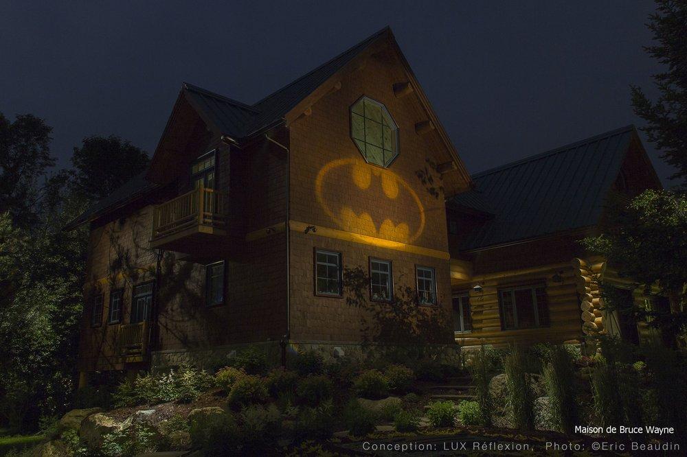 Éclairage architectural, maison