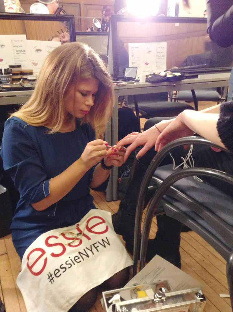 Backstage with Essie
