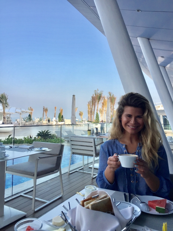 The Terrace at the Burj al Arab having the dreamiest breakfast